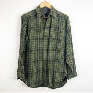 🌿 Pendleton Vintage Wool Green Button Down Shirt